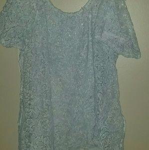 White lace shirt